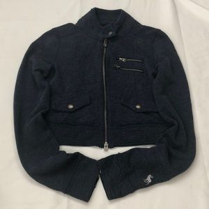 Abercrombie M navy casual light weight jacket.